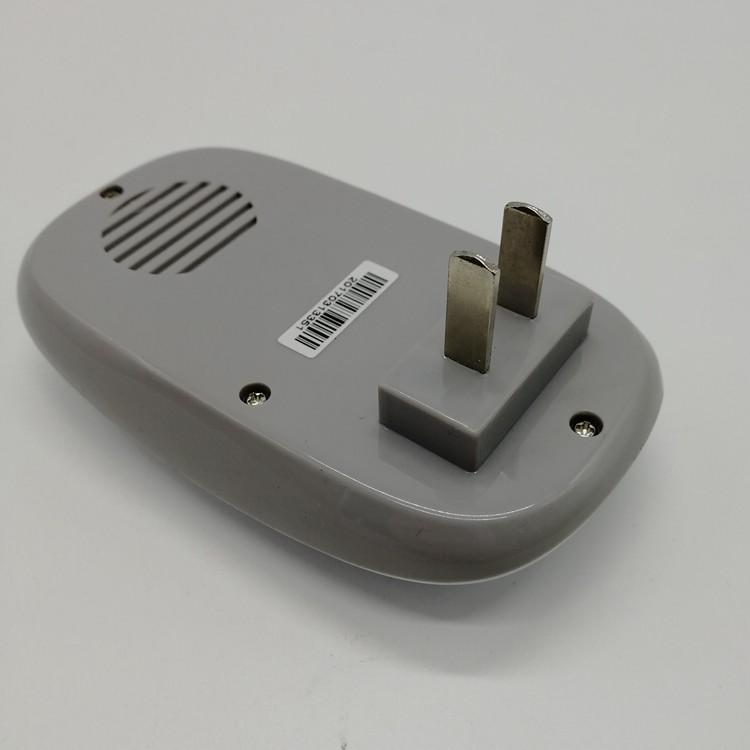 门铃接收器背面45度视图