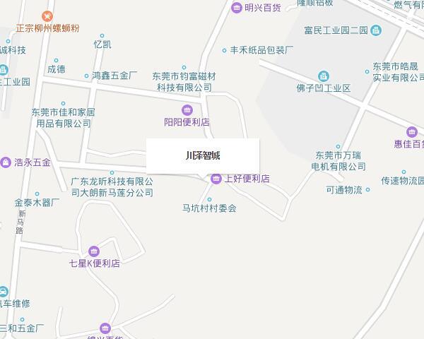 东莞大朗恒之业塑胶地图位置